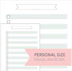 Blank List Template by Blank Checklist Template 9 Free Document In