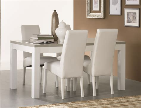 Table De Salle A Manger Blanche 1263 by Table Salle A Manger Blanc Et Bois Table Bois Fer