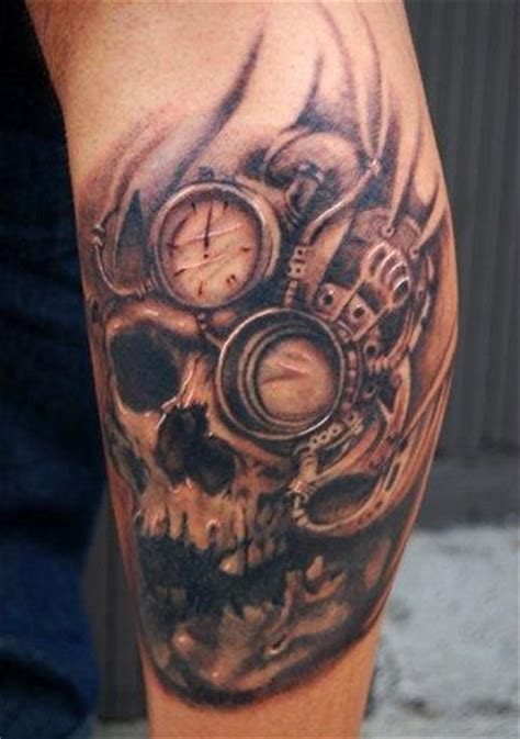 steampunk skull tattoo design of tattoosdesign of tattoos