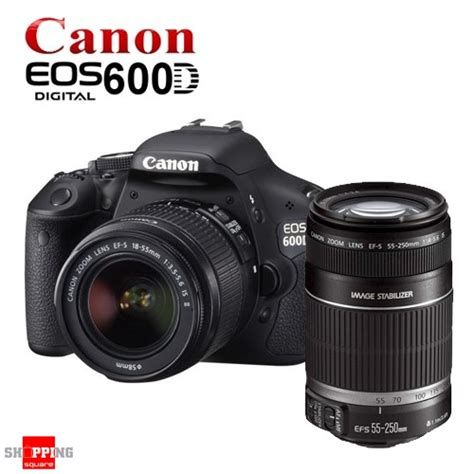 new canon eos 600d lens kit 18 55mm ii 55 250mm