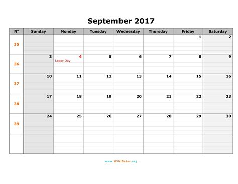 Calendar September 2017 With Holidays September 2017 Calendar With Holidays Uk Weekly Calendar