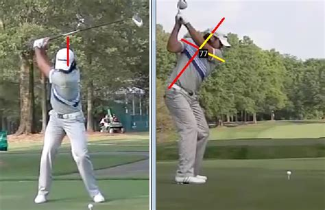 shoulder movement in golf swing jason day golf swing analysis consistentgolf com