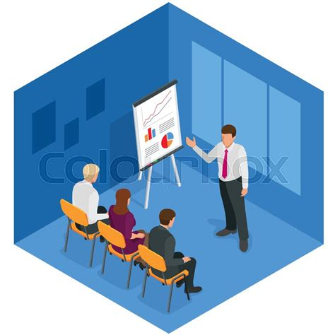 design concept training training concept business man flat design illustration