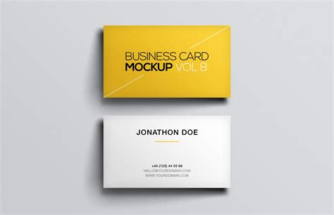 ups business card template business card mockup vol 8 medialoot