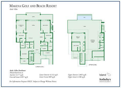 makena floor plan makena golf and beach resort real estate for sale