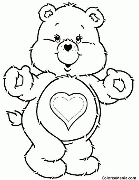 imagenes de osos con corazones para colorear colorear oso amorosos corazn animales de la selva