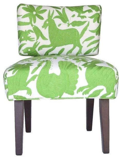 Lime Green Accent Chair Lime Green Otomi Upholstered Chair Modern Armchairs And Accent Chairs