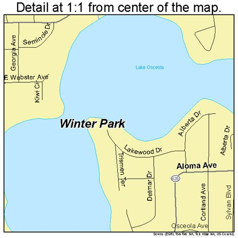 map of winter florida winter park florida map 1278300