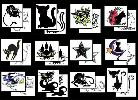 black cat tattoos what do they mean tattoos designs