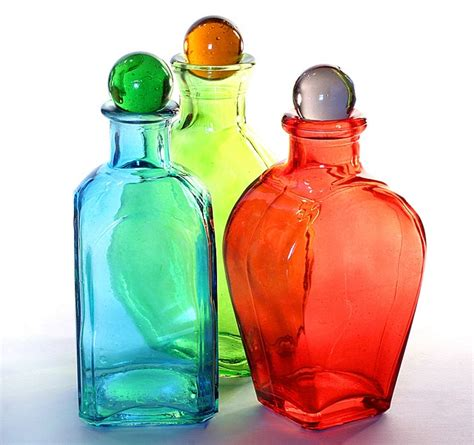 colors and bottles best 25 colored glass bottles ideas on