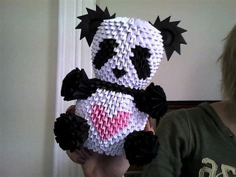 Origami 3d Panda - yet another 3d origami panda by onelonetree on deviantart