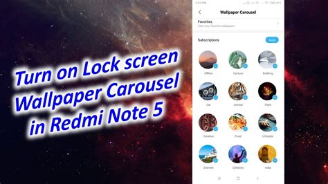 change lock screen wallpaper automatically  redmi note