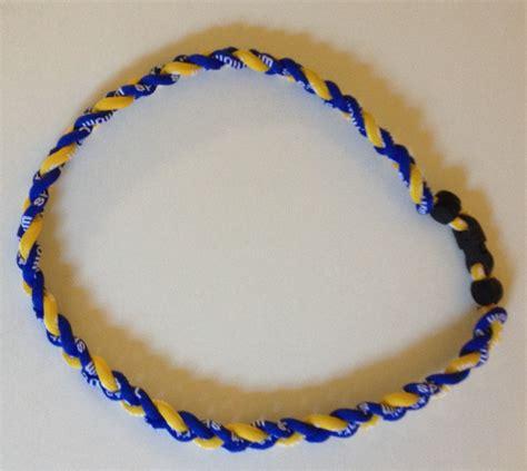 T01 218 Titanium Necklaces blue and gold titanium and germanium necklace dph custom pins