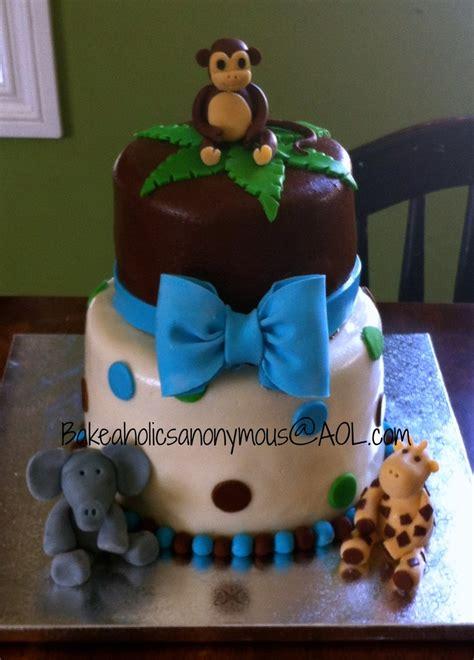 safari baby shower cake   boy polka dots cakecentralcom
