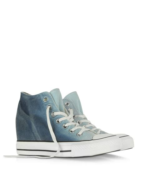 Sporty Wedges Wedges 7cm converse ctas mid ambient blue wedge sneaker in blue