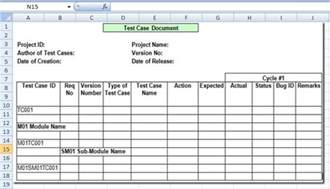 Test Cases Template by Project Management Test Template Excel Xls