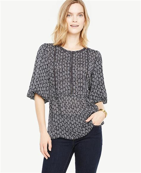 Lacy Sleeve Blouse by Lyst Vine Lacy Puff Sleeve Blouse