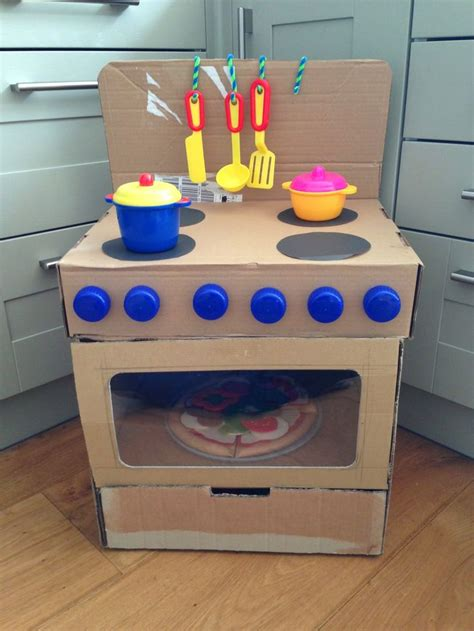 lift wipe change repeat diy cardboard box oven diy