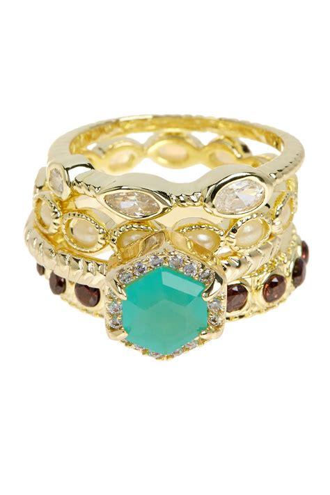 Ring Kotak 4 Cm Gold mistraya jewelry dania stackable rings set of 4 nordstrom rack