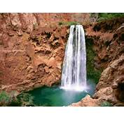 Havasupai Mooni Falls Grand Canyon Arizona Wallpaper  Waterfalls