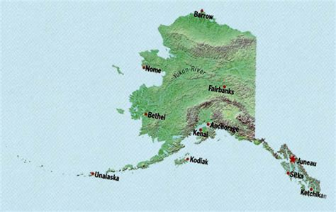 alaska state map alaska state maps interactive alaska state road maps
