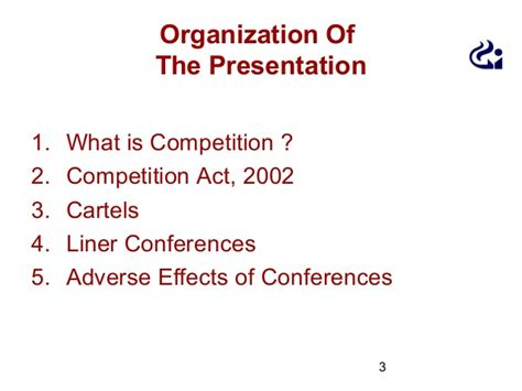 Competition Act 2002 Notes For Mba by Presentation Liners Conference Ppt 1 Ppt