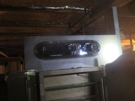 3 bulb vanity quot bar light quot how to mount quot outlet box