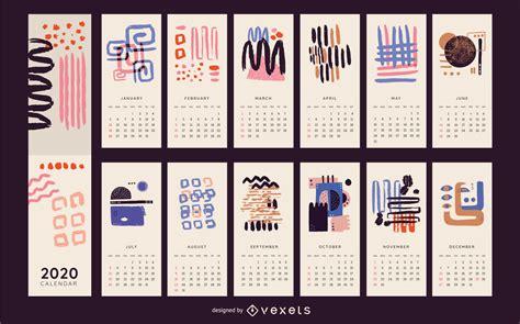 abstract colorful  calendar design vector