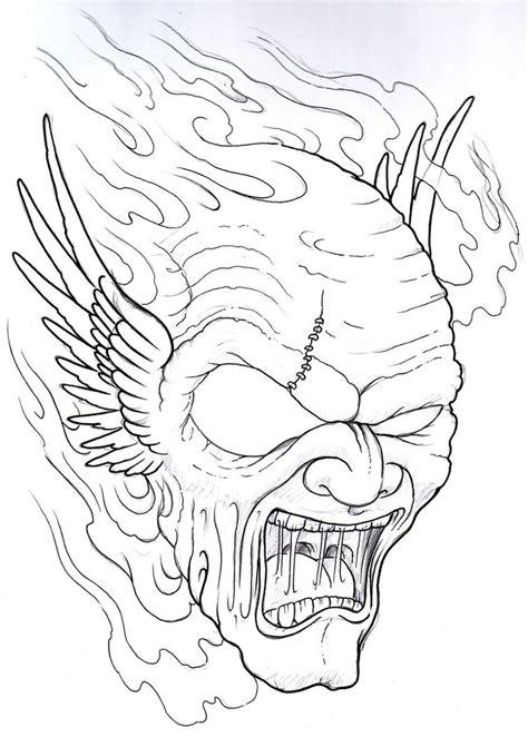 winged demon tattoo sketch by vikingtattoo on deviantart