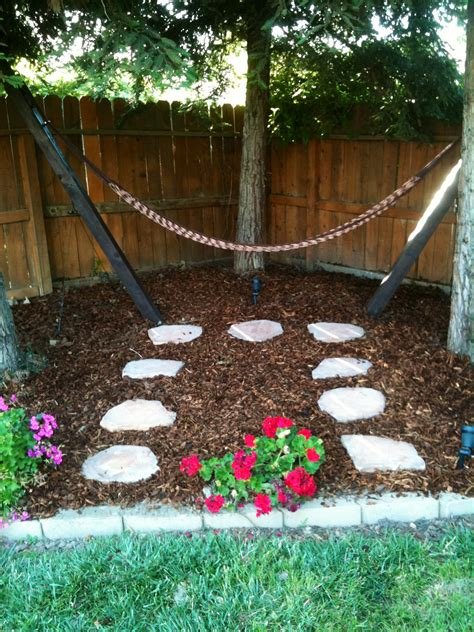 backyard hammock stand backyard hammock this kind of looks like our backyard