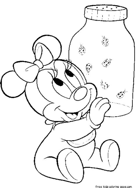 baby minnie mouse birthday coloring pages baby minnie mouse colouring pages to printfree printable
