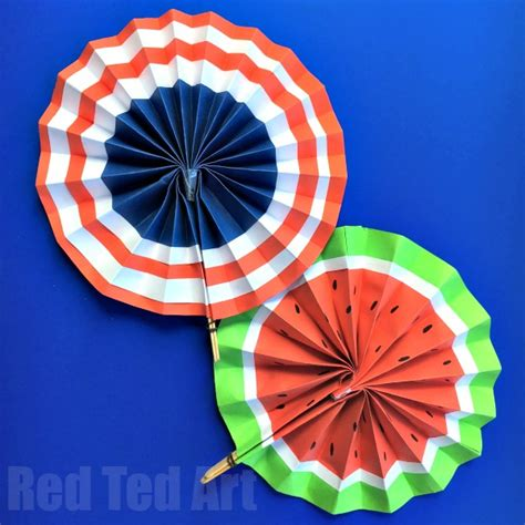diy paper fans template 4th of july diy paper fans template summer paper crafts