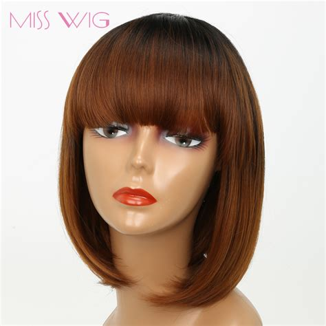 wig grips for women that have hair miss wig black ombre brown straight bob hair short wigs
