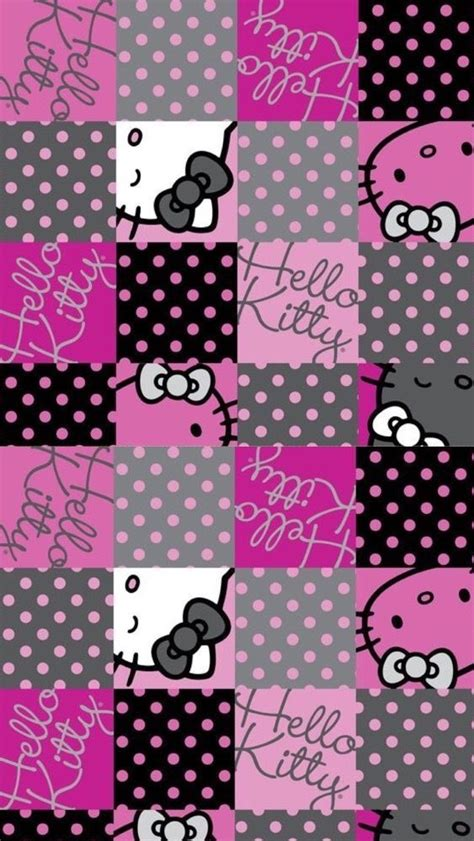 wallpaper hello kitty pink hitam 225 best images about hello kitty on pinterest iphone 5