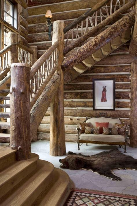 stunning rustic cabin plans loft with wooden staircase 1000 images about rustic staircases on pinterest log