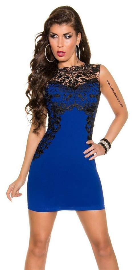 imagenes vestido negro con azul comprar vestido azul corto con encaje online vestidos de