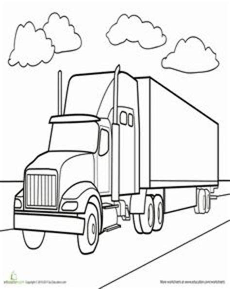 cattle car coloring page 1000 images about semi truck themed birthday on pinterest