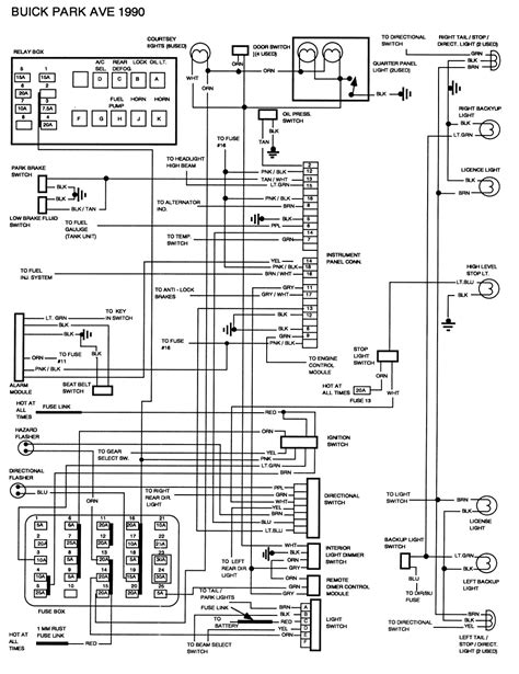 small engine maintenance and repair 1991 buick park avenue parking system 1991 buick park fuse diagram 1991 free engine image for user manual download
