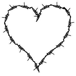 barbed wire heart on universalscrapbook scrapbooking