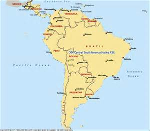 central south america map pictures to pin on