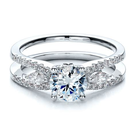marquise engagement ring with eternity band