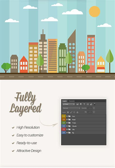 flat psd template flat city psd template 187 psd files 187 photoshop freebie