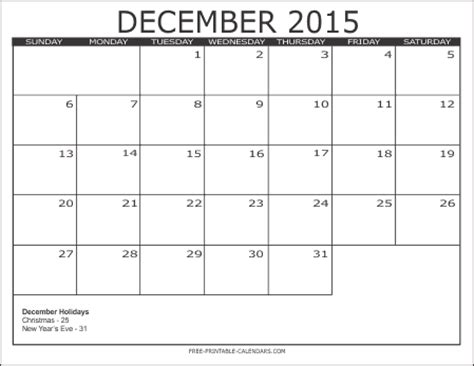 printable calendars december 2015 2015 free printable calendars free printable calendars