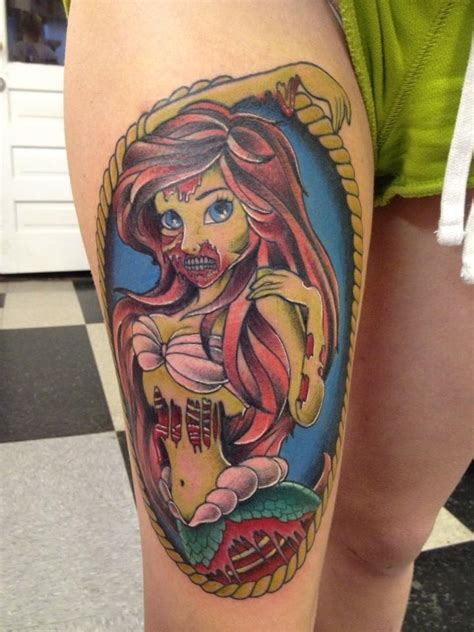 tattoo ideas for disney disney tattoo zombie ariel tattoo designs
