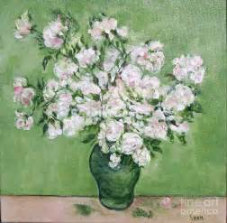 The Bedroom Van Gogh vase of white roses i after van gogh painting by shan ungar