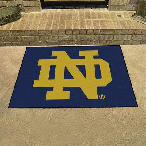 notre dame rugs of notre dame nd logo all mat 34 quot x 44 5 quot