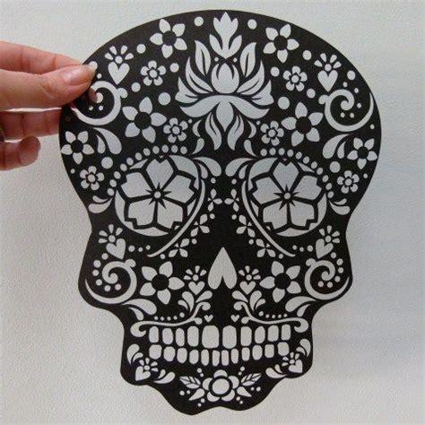 Paper Cut Sugar Skull Unframed Wowthankyou Co Uk Skull Pinterest Sugar Skulls Sugaring Laser Cut Skull Template