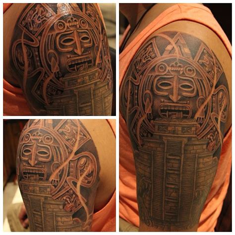 maori half sleeve tattoo designs half sleeve maori aztec design for