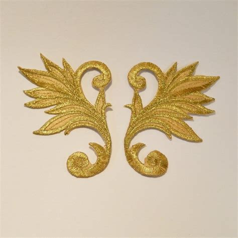 gold applique silver and gold applique 147 pair valorose tutus and