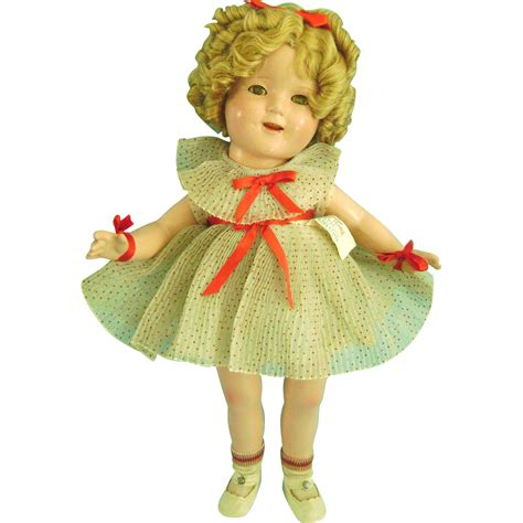 shirley temple composition doll for sale 17 quot vintage composition shirley temple doll in orig